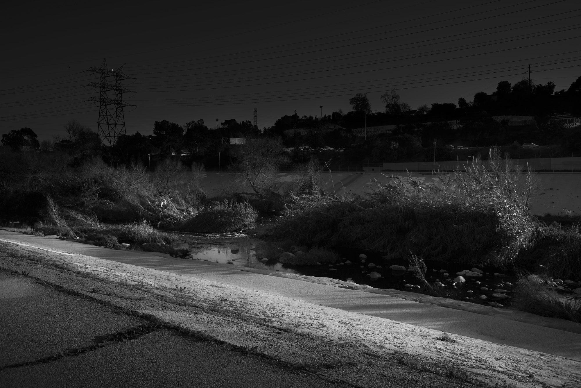 Untitled L.A. River no.1 (The Los Angeles Sign) from LA-LIKE: Day For Night (Sunlight as Spotlight)