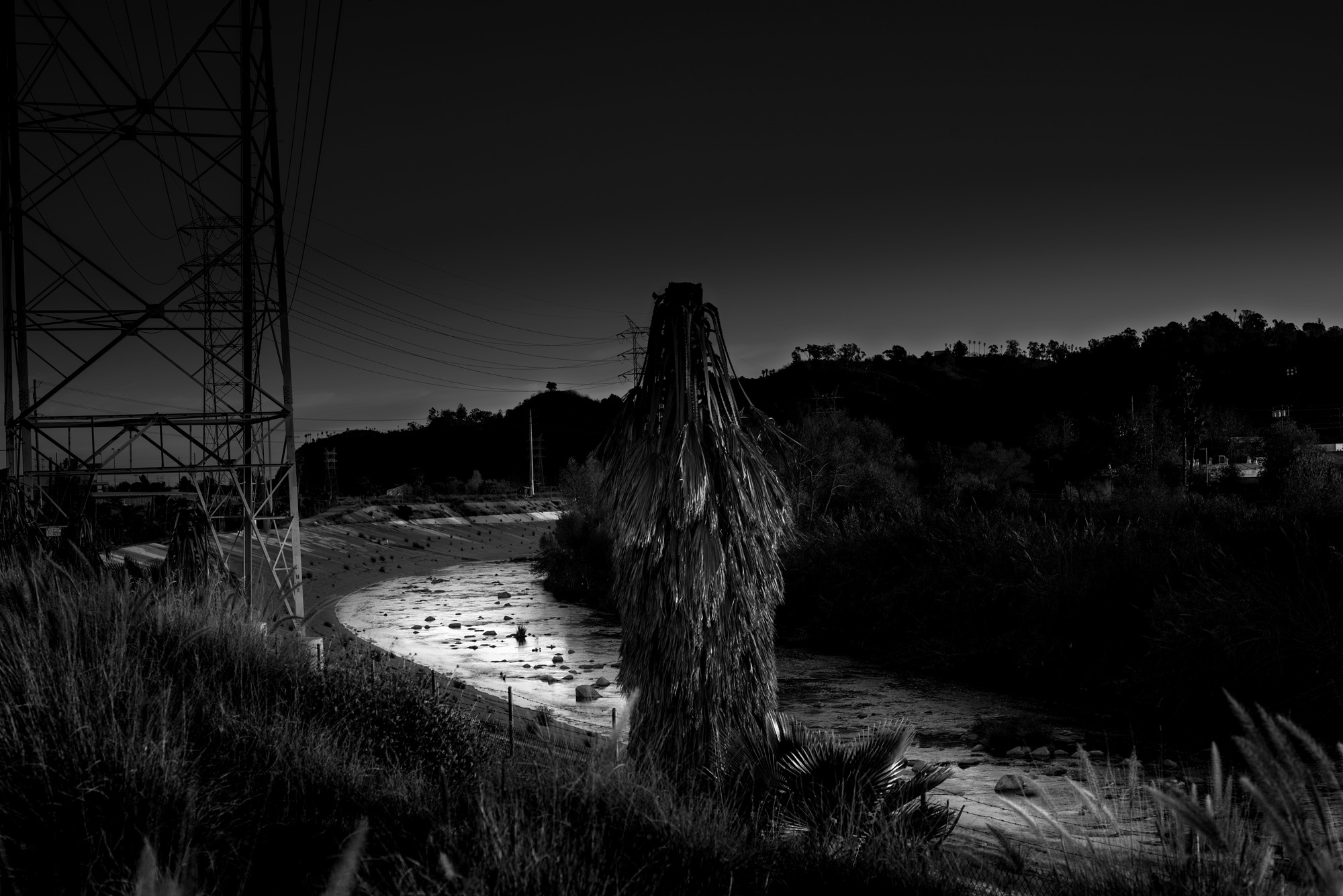 Untitled L.A. River no.4 from LA-LIKE: Day For Night (Sunlight as Spotlight)