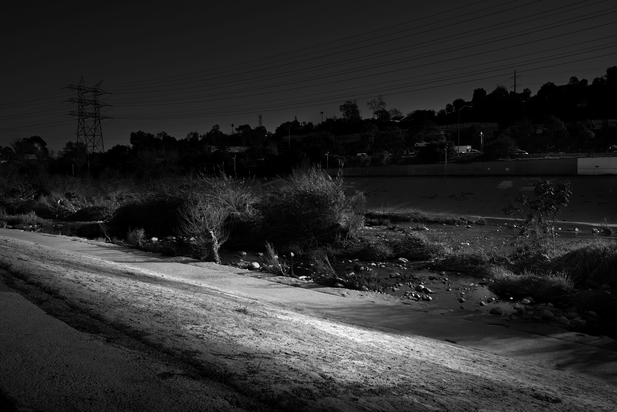 Untitled L.A. River no.2 from LA-LIKE: Day For Night (Sunlight as Spotlight)