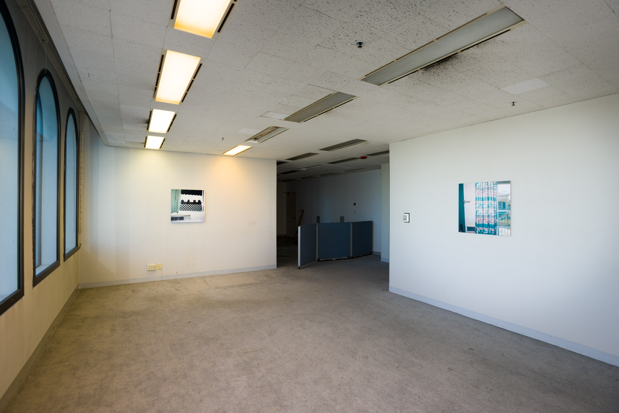 Installation view, 9800, 9800 S. Sepulveda Blvd., Los Angeles, CA, October 2015