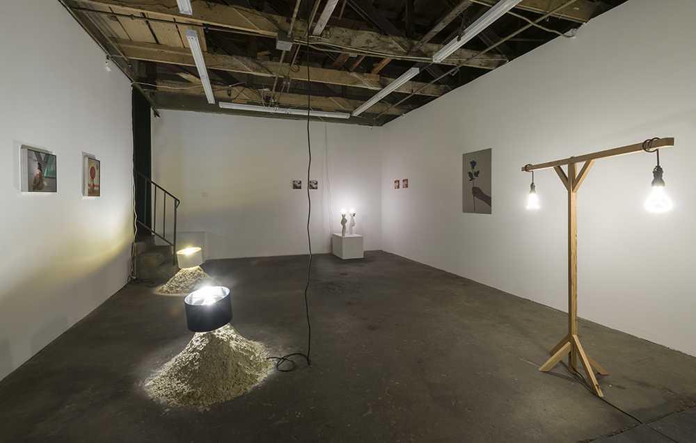 Installation Shot, Madames Electric at The Pit, curated by Shana Lutker,