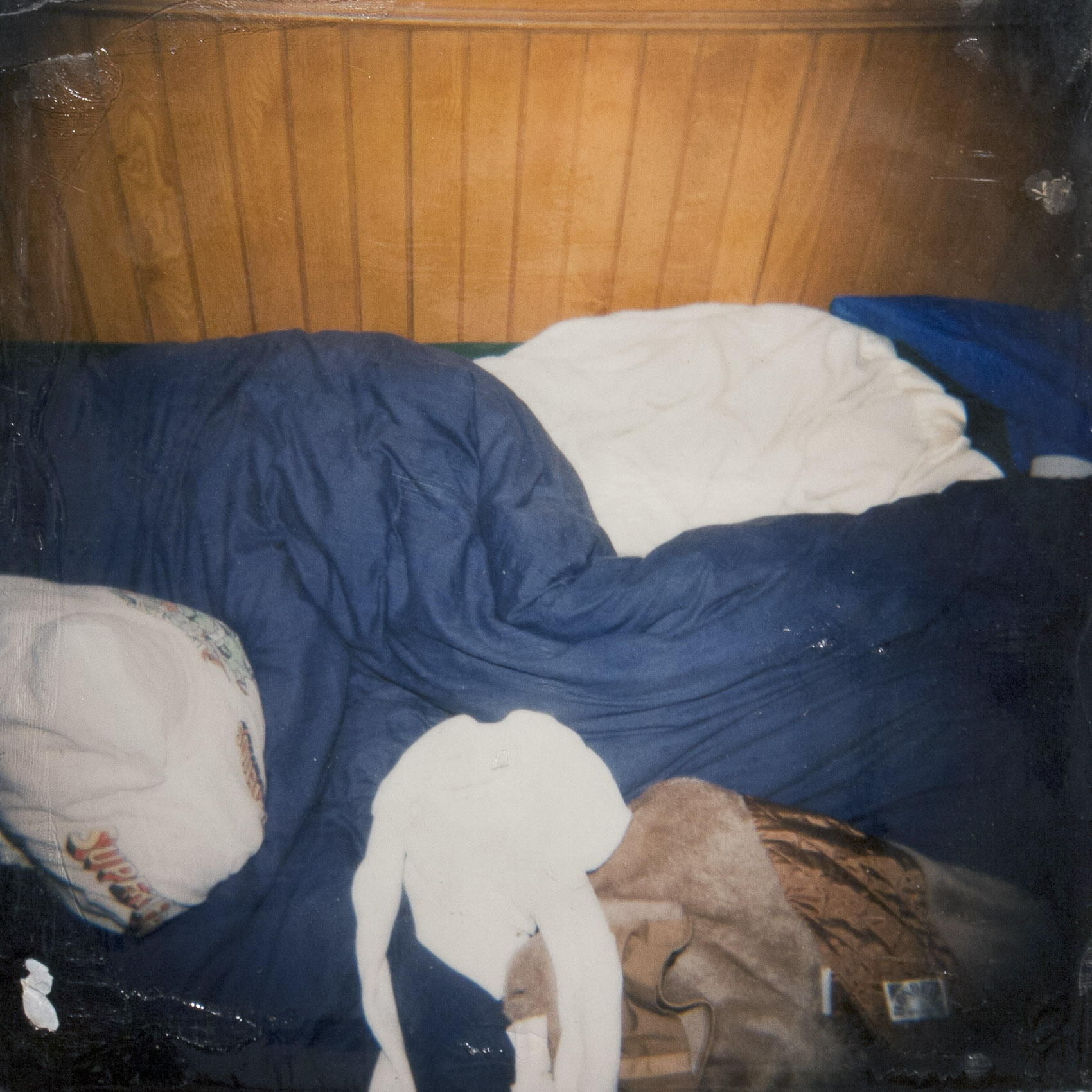Unmade Bed (with Superman pillow) v.1 from the series The Santa Cruz Kids