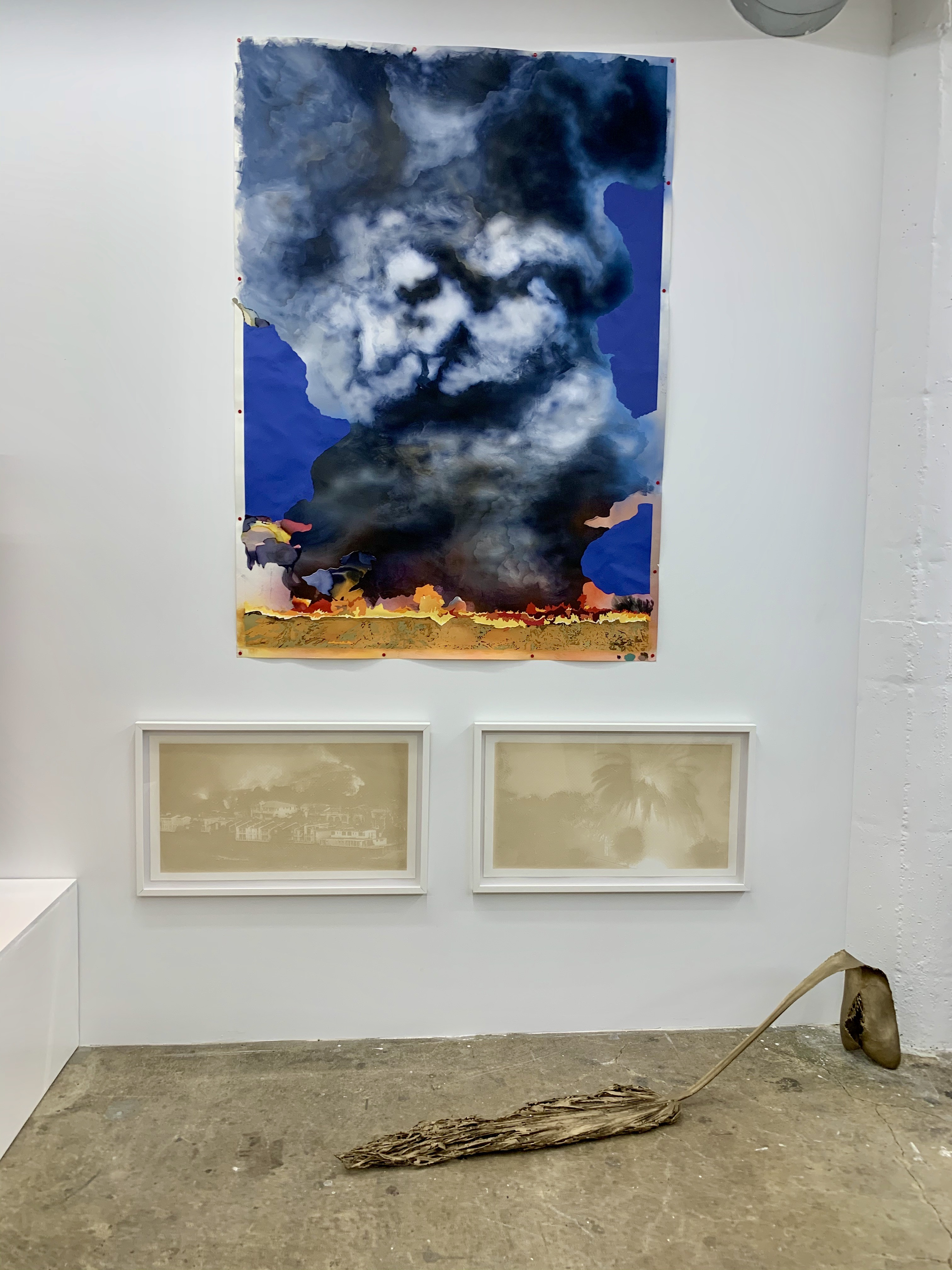 Installation View, L.A. on Fire, curated by Michael Slenske, at Wilding Cran Gallery, Los Angeles