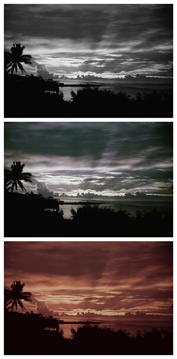 duBois' Triple Vision Fantasy Landscapes (Sunset)