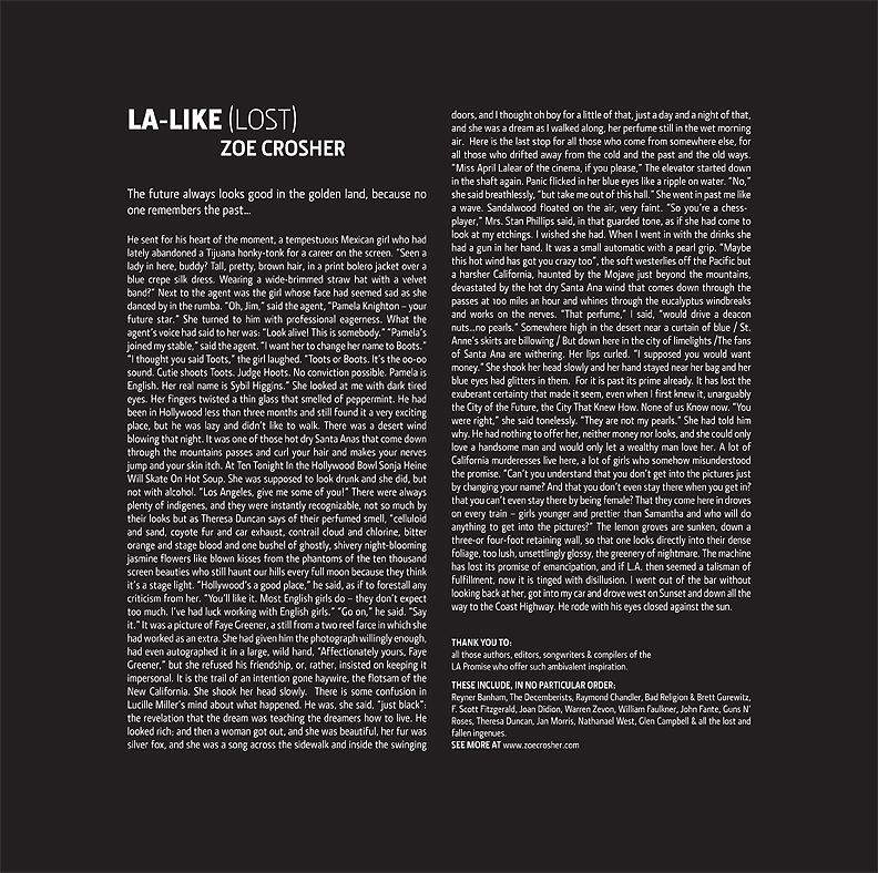 LA-LIKE:LOST (Poster & Liner Notes)