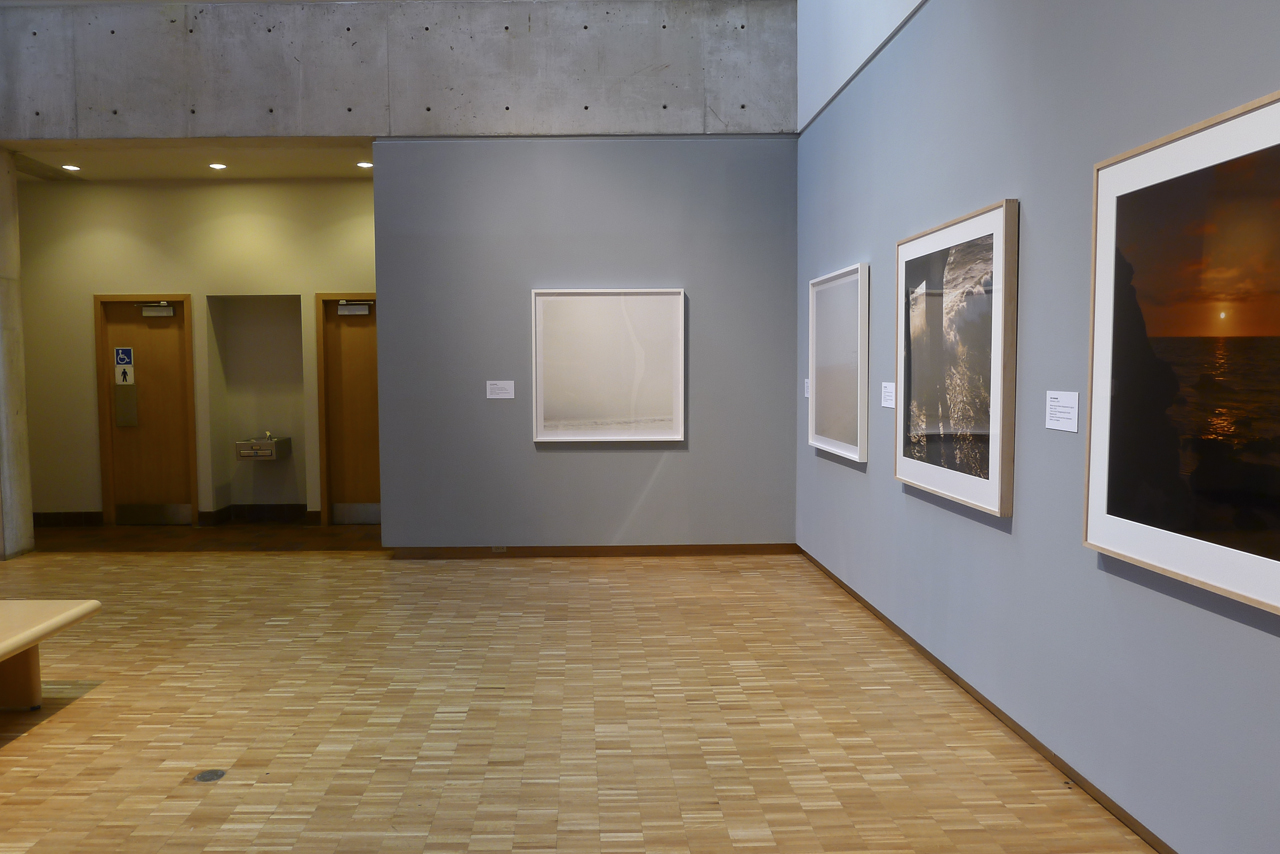 "Installation view, ""Dark Blue"" at the Haggerty Museum of Art"